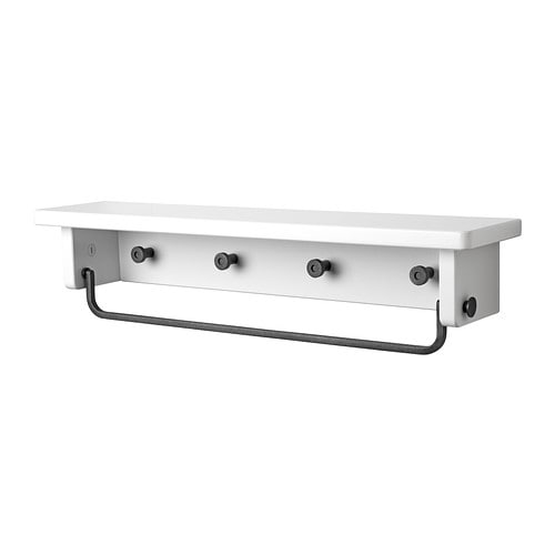 Bathroom Towel Shelves Ikea   Home Bathroom Bathroom accessories Towel  rails   towel holders. hjalmaren towel hanger shelf white  0145824 PE304949 S4 JPG