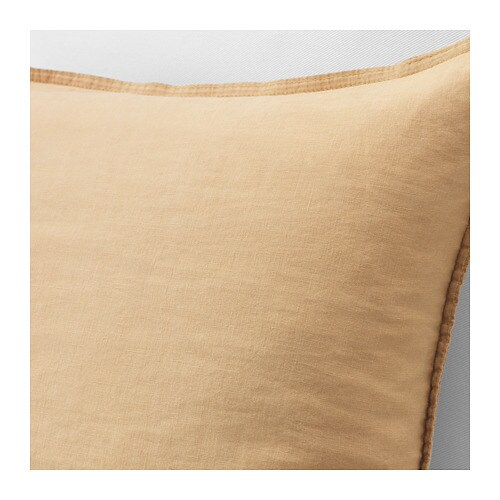 HJÄRTELIG Cushion cover IKEA Linen is a strong, durable material that washes well and has a natural protection against stains.