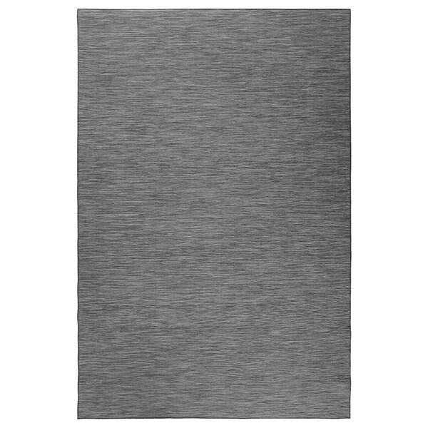 """HODDE Rug flatwoven, in/outdoor, gray/black, 6 ' 7 """"x9 ' 10 """""""