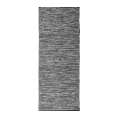 HODDE Rug flatwoven, in/outdoor, gray indoor/outdoor, black
