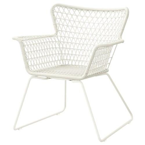 """HÖGSTEN armchair, outdoor white 28 3/4 """" 25 5/8 """" 32 5/8 """" 15 """" 18 7/8 """" 16 1/2 """""""