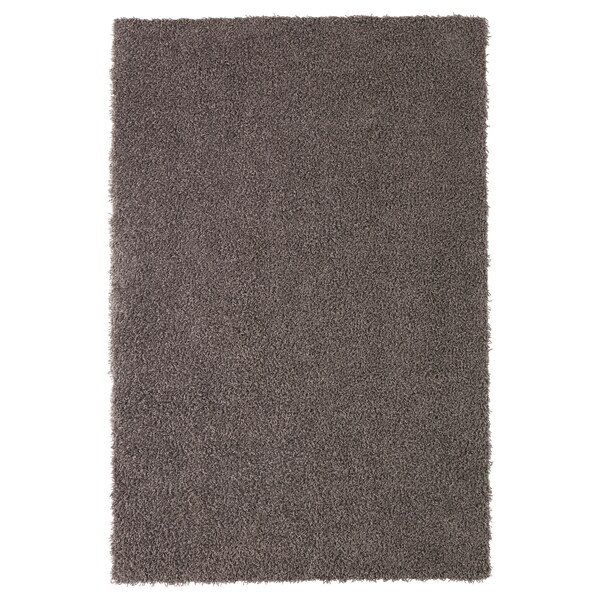 """HÖJERUP rug, high pile gray-brown 5 ' 11 """" 3 ' 11 """" ¼ """" 23.25 sq feet 4.13 oz/sq ft 1.87 oz/sq ft ¼ """" 1 """""""