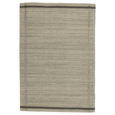"HÖJET Rug, flatwoven, handmade/beige, 4 ' 4 ""x6 ' 5 """