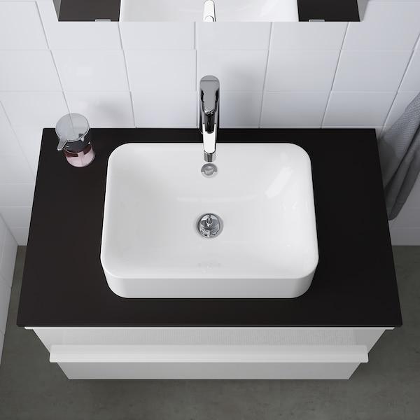 "HÖRVIK Countertop sink, white, 17 3/4x12 5/8 """