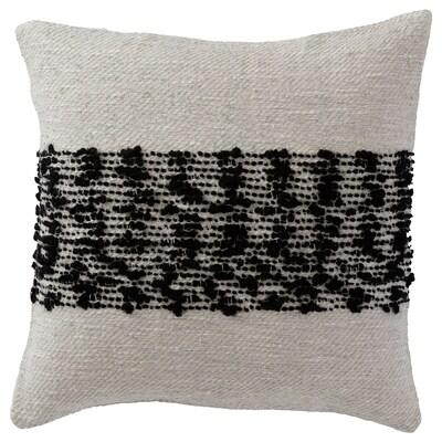 """HÖSKALLRA Cushion cover, gray/black, 20x20 """""""