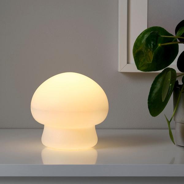 "HÖSTFEST LED decorative light, battery operated indoor/outdoor/mushroom white, 6 """