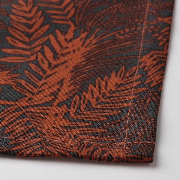 """HÖSTKVÄLL Dish towel, black/red, 20x28 """""""