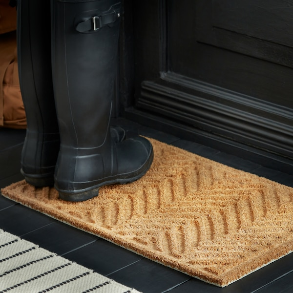 """HÖSTKVÄLL Door mat, natural, 1 ' 4 """"x2 ' 0 """""""