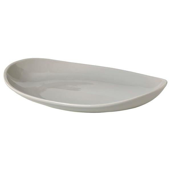 "HÖSTKVÄLL Serving plate, gray, 18 ½x14 ¼ """