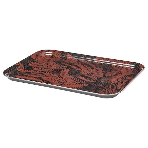 """HÖSTKVÄLL Tray, black/red, 8x11 """""""