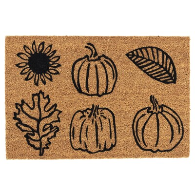 "HÖSTPROMENAD Door mat, pumpkin pattern natural, 1 ' 4 ""x2 ' 0 """