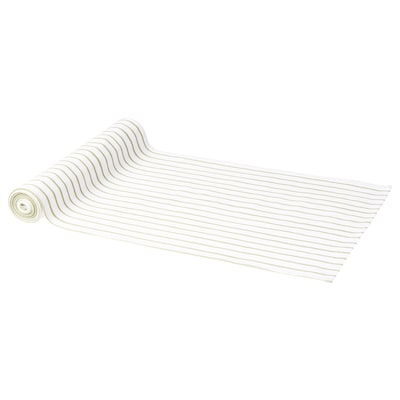 "HÖSTPROMENAD Table runner, stripe pattern white/green, 1 ' 2 ""x110 """