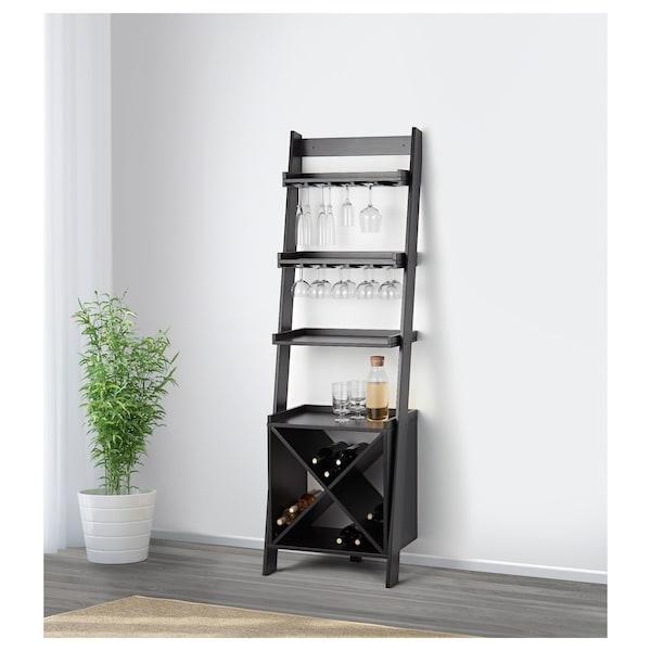 "HOGHEM Bar shelf, black-brown, 22 1/2x73 5/8 """