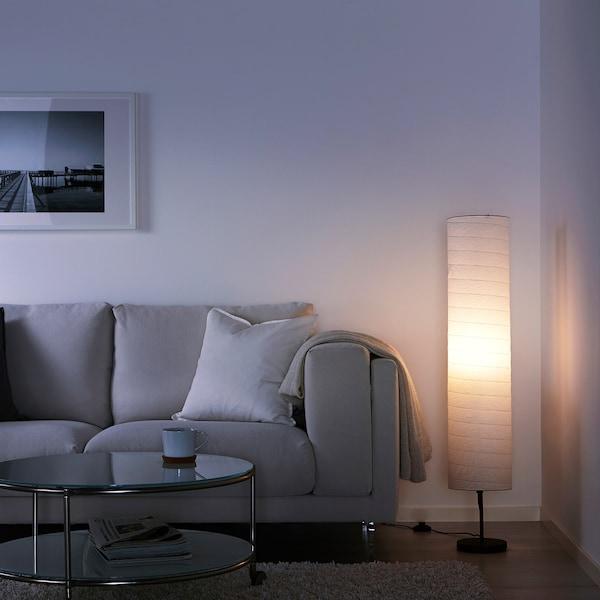HOLMÖ Floor Lamp With LED Bulb, White - IKEA
