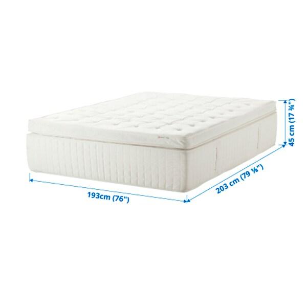 HOLMSBU Pillowtop mattress, medium firm/white, King