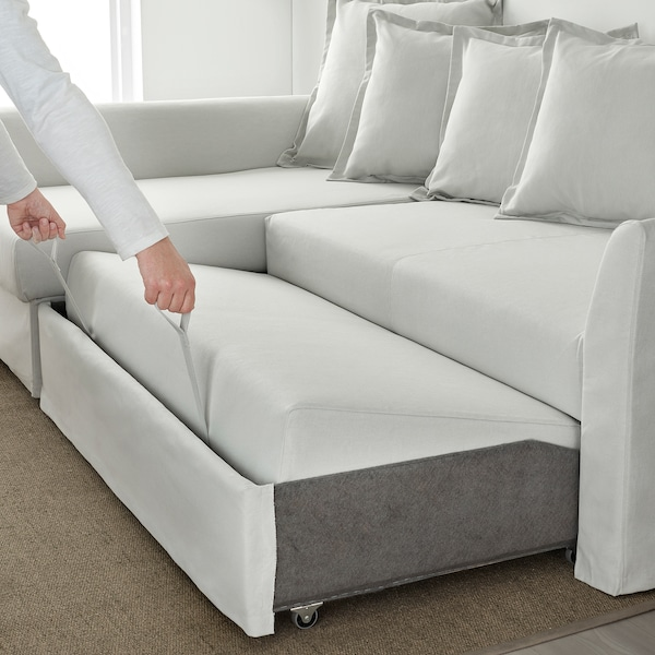 Phenomenal Sleeper Sectional 3 Seat Holmsund Orrsta Light White Gray Uwap Interior Chair Design Uwaporg