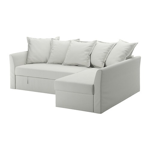 holmsund sleeper sectional 3 seat orrsta light white gray ikea. Black Bedroom Furniture Sets. Home Design Ideas