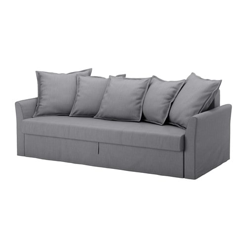 Holmsund sleeper sofa nordvalla medium gray ikea for Futon de 2 plazas