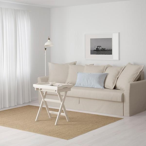 HOLMSUND Sleeper sofa, Nordvalla beige