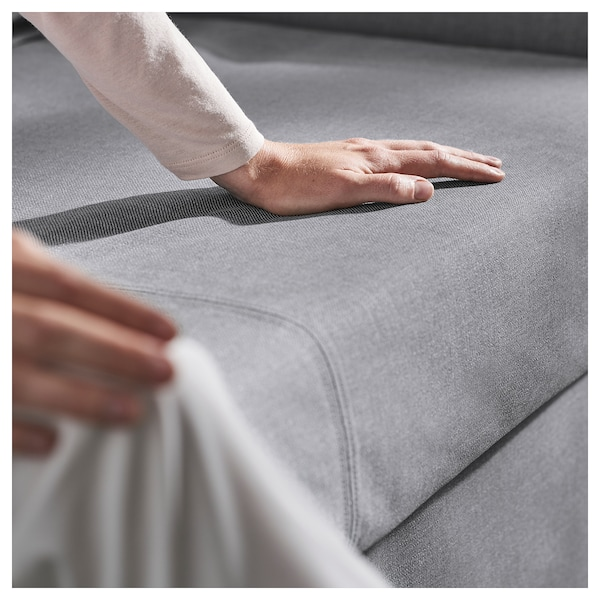 HOLMSUND Sleeper sofa, Nordvalla medium gray