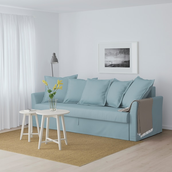 HOLMSUND Sleeper sofa, Orrsta light blue