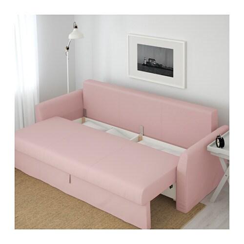 - HOLMSUND Sleeper Sofa - Ransta Light Pink - IKEA