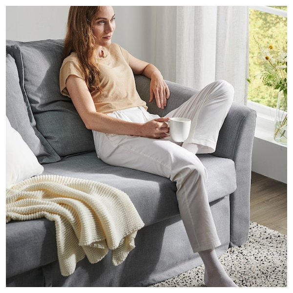 "HOLMSUND sleeper sofa Nordvalla medium gray 37 3/4 "" 31 1/8 "" 90 1/2 "" 39 "" 23 5/8 "" 17 3/8 "" 55 1/8 "" 78 3/4 """