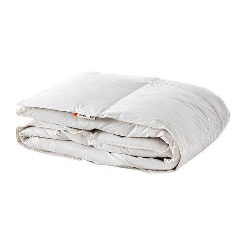 new ikea honsbar duck downfeather comforter duvet insert in your choice of size and warmth choose between twin fullqueen or king sized comforter and