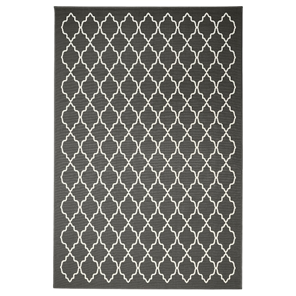 "HOVSLUND Rug, low pile, dark gray, 6 ' 7 ""x9 ' 10 """