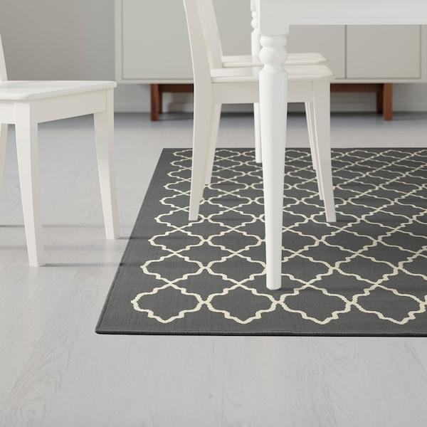 """HOVSLUND rug, low pile dark gray 9 ' 10 """" 6 ' 7 """" ¼ """" 64.58 sq feet 5.57 oz/sq ft 1.57 oz/sq ft ¼ """""""