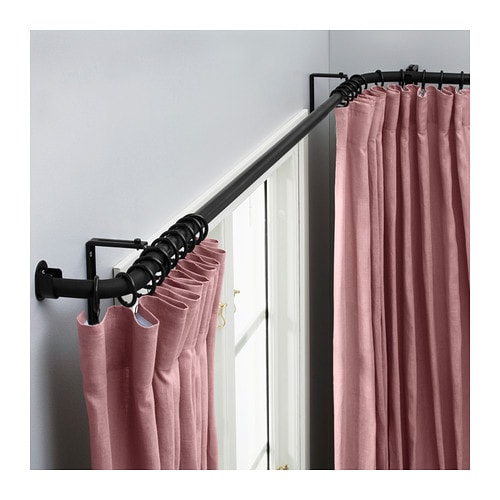 Curtains Ideas curtain rod for bay windows : HUGAD Curtain rod combination/bay window - IKEA