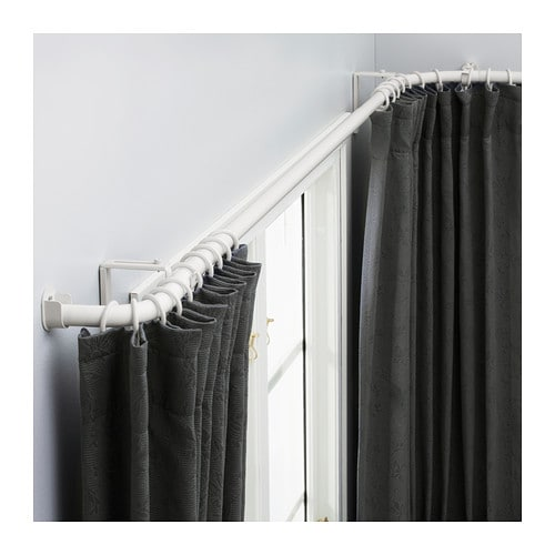 Curtains Ideas bay window curtain rod set : HUGAD Curtain rod combination/bay window - IKEA