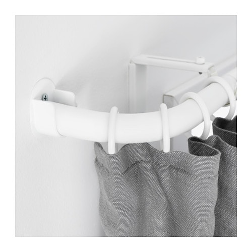 Curtains Ideas curtain rod hanger : HUGAD Curtain rod corner connector - black, - IKEA