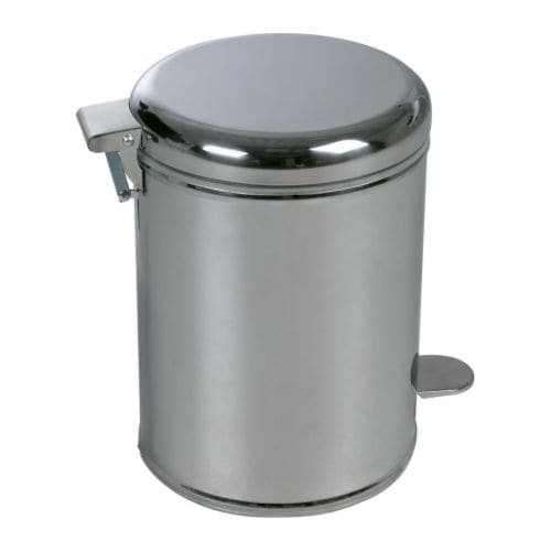 Ikea bathroom pedal bin trash can stainless steel new ebay for Ikea trash cans