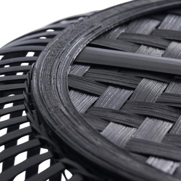 """HURRING Basket, bamboo black, 15 ¾ """""""