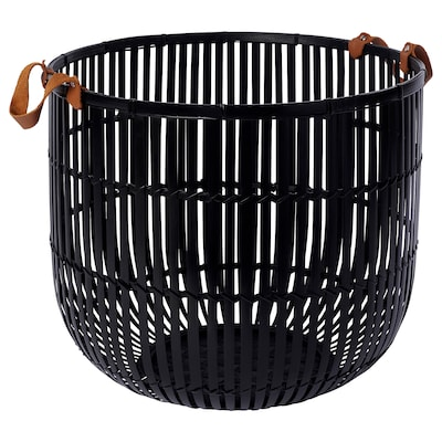 HURRING Basket, bamboo black, 15 ¾ ""