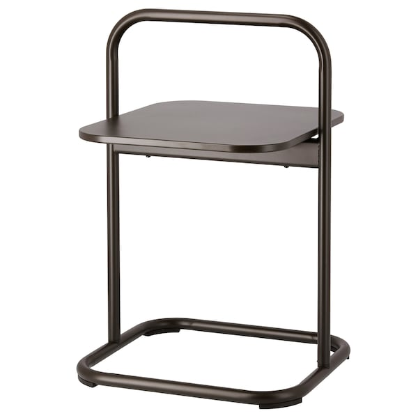 HUSARÖ Side table, outdoor, dark gray, 19 1/4x19 1/4 ""