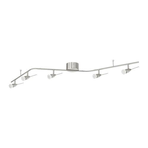 HUSINGE Ceiling track, 5-spots, nickel plated nickel plated -