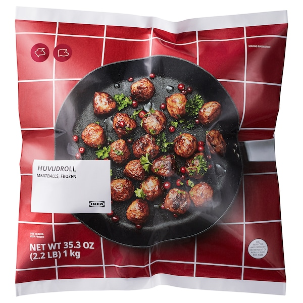 HUVUDROLL Meatballs, frozen, 2 lb 3 oz