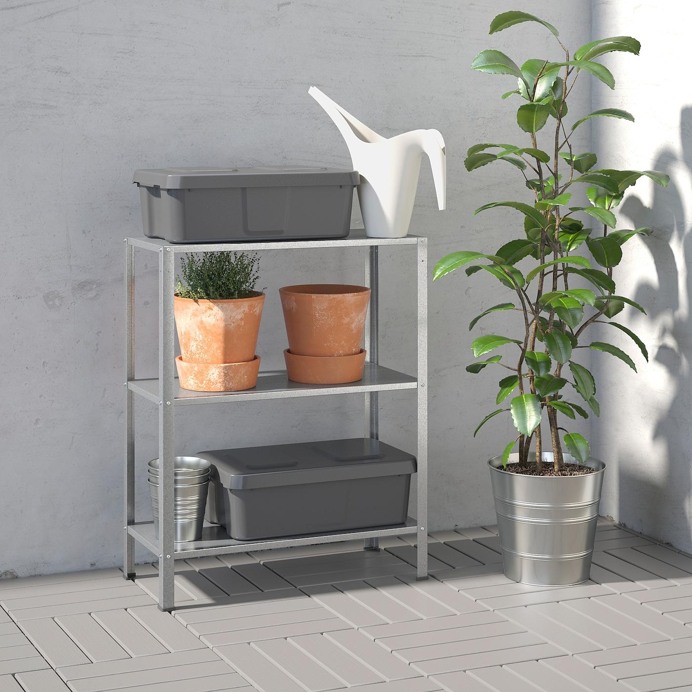 Hyllis Shelf Unit Indoor Outdoor 23 5 8x10 5 8x29 1 8 Ikea