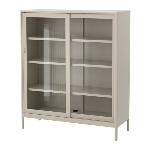 IdÅsen Cabinet With Sliding Gl Doors