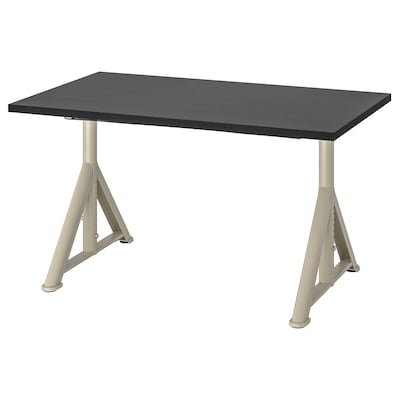 IDÅSEN Desk, black/beige, 47 1/4x27 1/2 ""