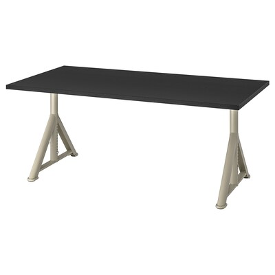 IDÅSEN Desk, black/beige, 63x31 1/2 ""
