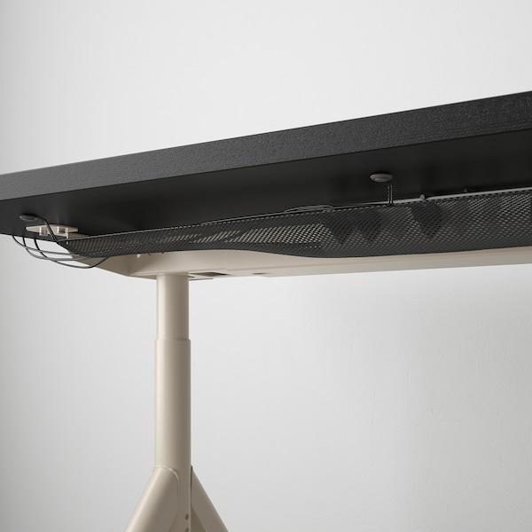 "IDÅSEN desk black/beige 63 "" 31 1/2 "" 25 5/8 "" 31 1/8 "" 154 lb"
