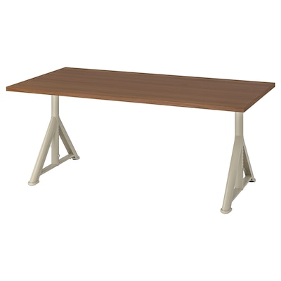 IDÅSEN Desk, brown/beige, 63x31 1/2 ""