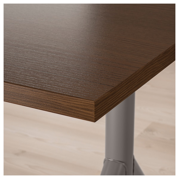 IDÅSEN Desk, brown/dark gray, 63x31 1/2 ""