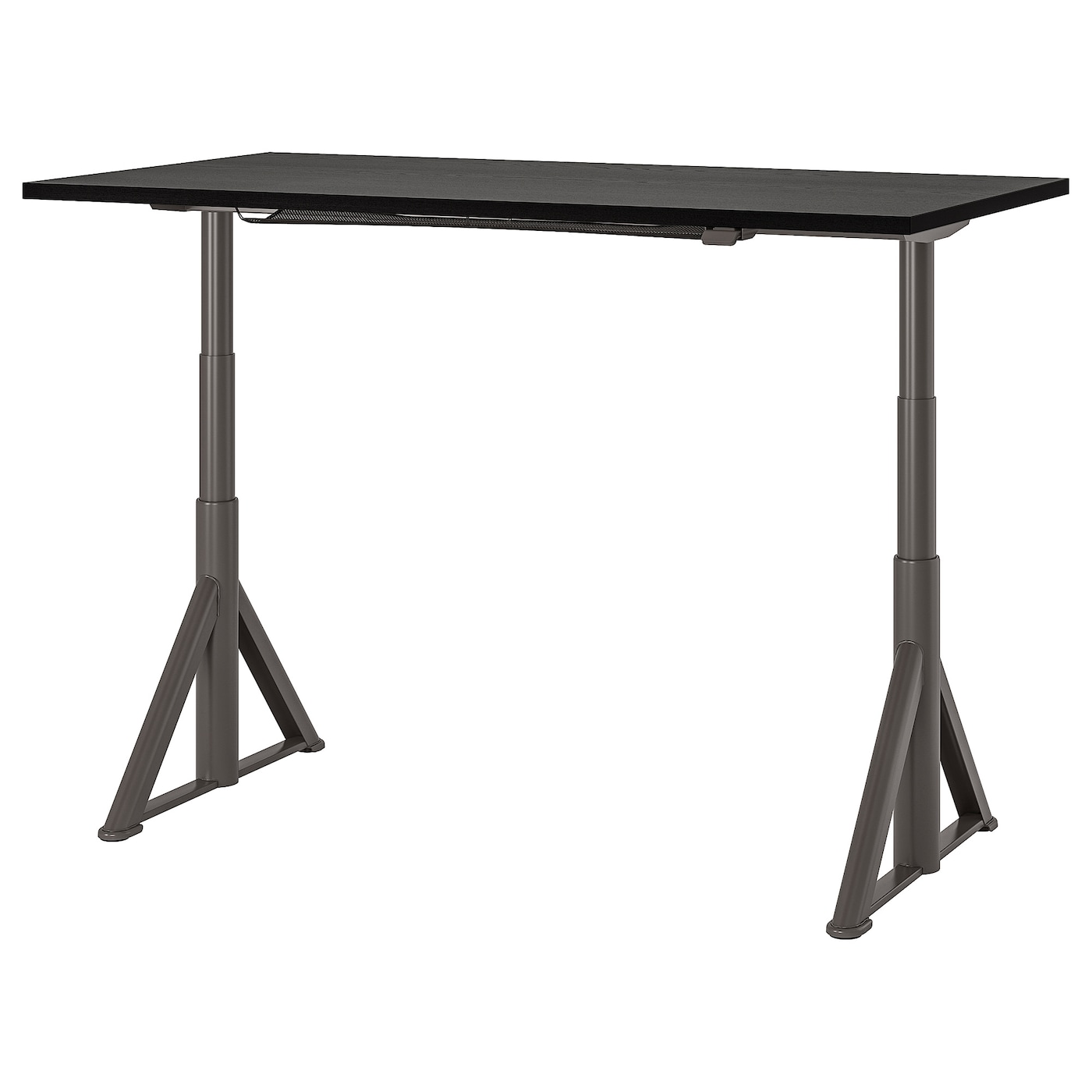 "IDÅSEN Desk sit/stand - black/dark gray 38x38 38/38 """