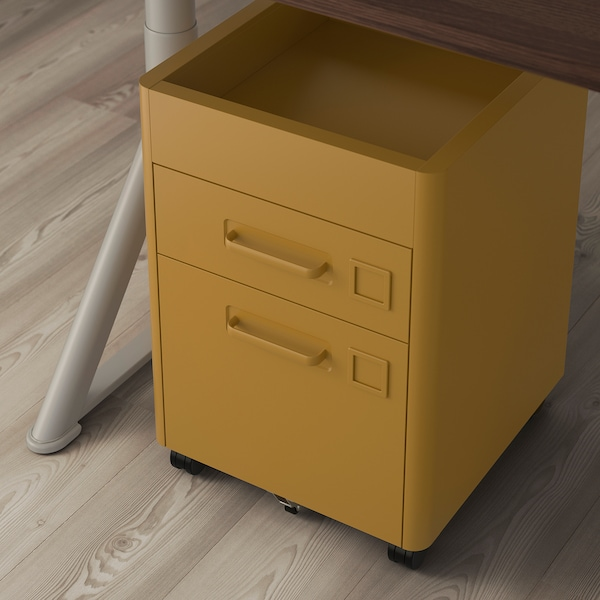 "IDÅSEN drawer unit on casters golden brown 16 1/2 "" 18 1/2 "" 24 """