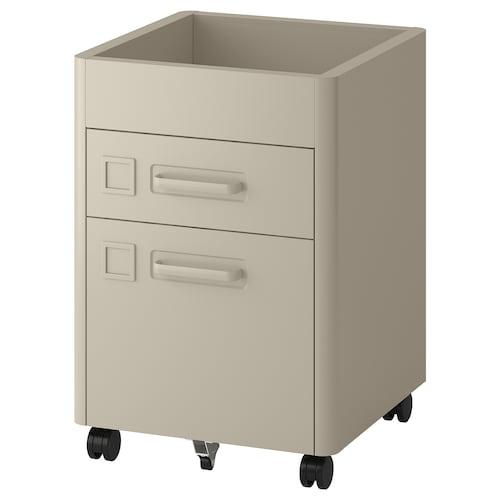 """IDÅSEN drawer unit with smart lock beige 16 1/2 """" 18 1/2 """" 24 """""""
