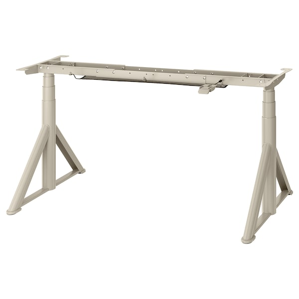 """IDÅSEN Sit/stand underframe for table top, beige, 57 1/2x27 1/2 """""""